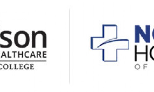 Madison School of Healthcare at Ashworth College logo with Northern Hospital of Surry County logo